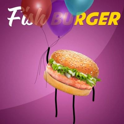 Fish Burger Planet Burger