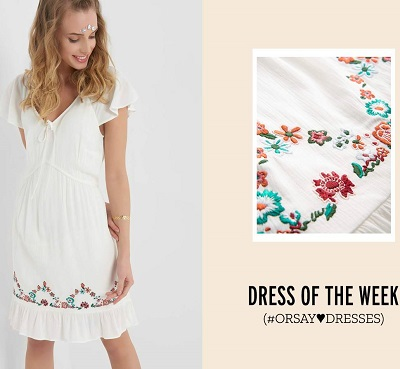 rochie-alba-motive-florale-Orsay